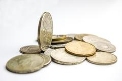 coins worldwide - stock photo