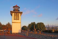 table bluff lighthouse in eureka, california - stock photo