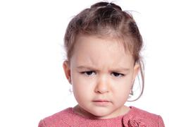 angry girl - stock photo