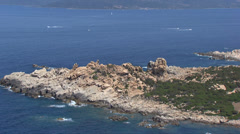 Aerial corsica campomoro tower Stock Footage