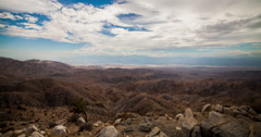 4K time lapse of clouds over the Joshua Tree national park near Palm Springs Stock Footage