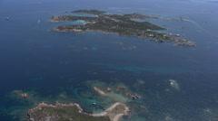 Aerial corsica islet Lavezzi Stock Footage