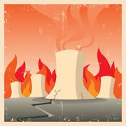 Stock Illustration of nuclear threat