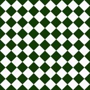 Dark green and white diagonal checkers on textured fabric background Stock Illustration