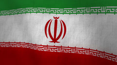 Iran Waving Flag (Loop-able) Stock Footage