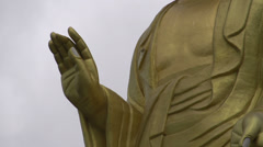 Close up Tilt from the Golden Buddha Stock Footage