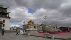 Pan from the Gandan Monastery in Ulaan Bataar Stock Footage