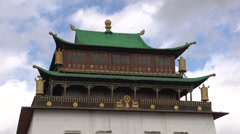 Time lapse from clouds passing by the Gandan Monastery Stock Footage