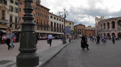 Piazza Bra Stock Footage