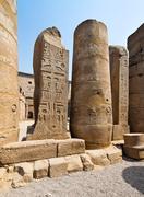 egypt, luxor, amun temple of luxor. - stock photo