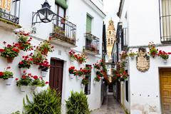 Spain, cordoba, calleja de las flores Stock Photos