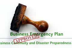 Business emergency plan - approved Stock Photos