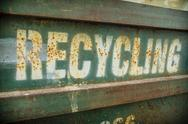 Grungy recycling sign Stock Photos