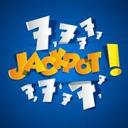 Creative Abstract Jackpot symbol Stock Illustration