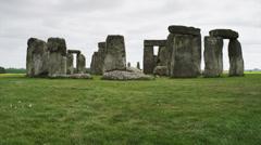 WS TU Stonehenge monument / Wiltshire, UK Stock Footage