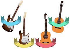 Guitar ribbon Stock Illustration