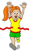 Running woman Stock Illustration