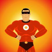 Comic-like super-hero Stock Illustration