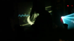Lady Discotheque Silhouette - Night life Stock Footage