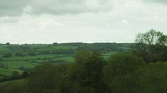 WS PAN Rural landscape / Somerset, UK - stock footage