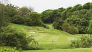 Stock Video Footage of WS PAN Golf course / Castle Comb, Wiltshire, UK