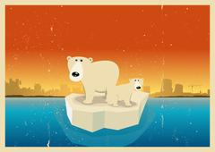 Global warming consequences Stock Illustration