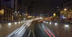 4K time lapse of a busy Shanghai freeway Stock Footage
