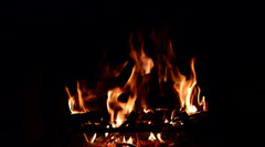 FIREPLACE SUBDUED FLAME - stock footage