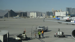 Airport Tarmac, Las Vegas Ground Crew 2 Stock Footage