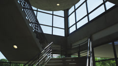 WS DS Empty office staircase / Orem, Utah, USA Stock Footage