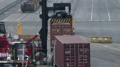Unloading Container From Truck 4K, UHD Stock Footage