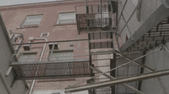 Fire escape stairs Stock Footage