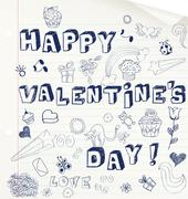 Valentine's day card Stock Illustration