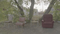 Four Chairs Stock Footage