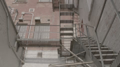 Old Fire Escape Stock Footage