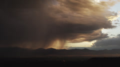 WS Dramatic stormy clouds over mountains / Draper, Utah, USA - stock footage