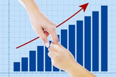 A helping hand on business growth Stock Illustration