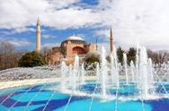 Stock Photo of hagia sophia in istanbul turkey