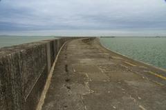 holyhead breakwater - stock photo