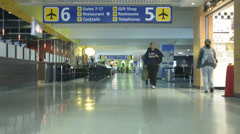 Airport Terminal, Travelers 10 Stock Footage