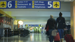 Airport Terminal, Travelers 7 Stock Footage