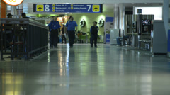 Airport Terminal, Travelers 6 Stock Footage