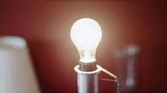 CU Man's hand exchanging light bulb / Orem, Utah, USA Stock Footage
