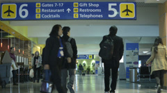 Airport Terminal, Travelers 1 - stock footage