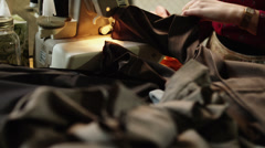 CU TU Young female fashion designer at work, mid section / Provo, Utah, USA Stock Footage
