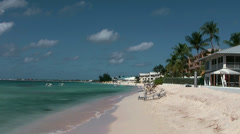 Cayman Islands, residential area at the famous seven mile beach Stock Footage