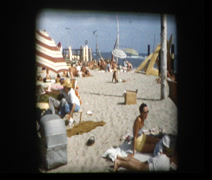 1955 Southern California beach San Onofre Stock Footage
