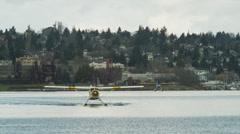 WS Seaplanes on harbor / Seattle, Washington, USA Stock Footage