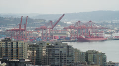 WS HA Seattle Port / Washington, USA Stock Footage