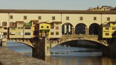 WS PAN Ponte Vecchio / Florence,Tuscany,Italy Stock Footage